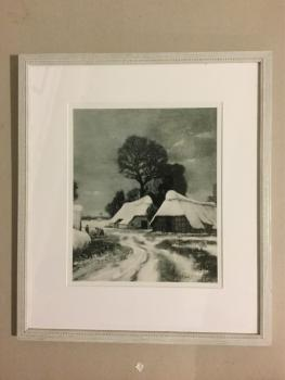 "Hans am Ende, Worpswede, Reproduktion, ""Winterlandschaft"""
