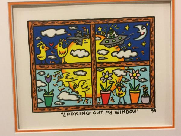 "James Rizzi, Kunstdruck ""LOOKING OUT MY WINDOW"" 95"