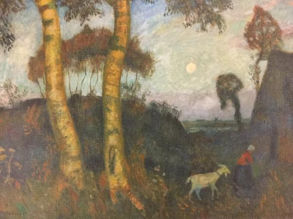 "Otto Modersoh, Worpswede, ""Abend im Moor"""
